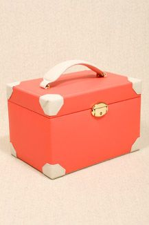 Large Coral Two-Tone Jewellery Box