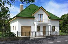 Проект одноэтажного жилого дома с мансардой Rg5117 Вид1
