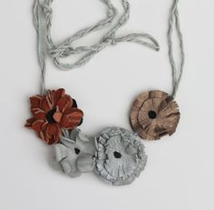 Sweet 1970's Flower Power UPCYCLED LEATHER by DESIGNSQUISH on Etsy, $29.00