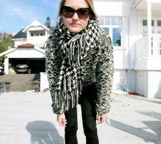 Black & White -  Isabel Marant wool sweater  http://stylescandinavia.com/
