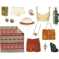 """(""""safari dream"""" by islabell on Polyvore) I love the idea of a totally impractical lingerie safari."""
