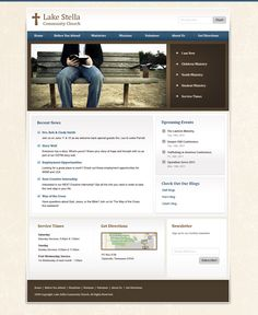 FREE Professional Business Blue Style Website Template by: testamentdesign.com