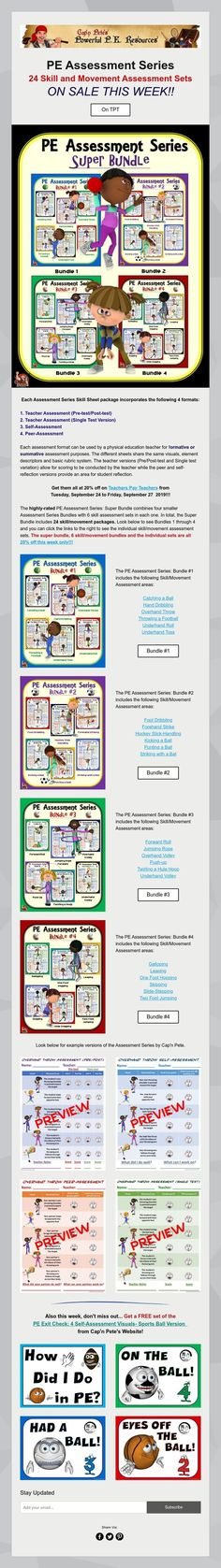 PE Assessment Series- ON SALE THIS WEEK!! Promotion Strategy, Health Promotion, Health And Physical Education, Pe Games, Assessment, Fun Workouts, Physics, Student, Activities