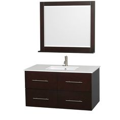 "Found it at AllModern - Centra 42"" Single Bathroom Vanity Set with Mirror"