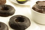 Gluten Free Chocolate Avocado Donuts with California Avocado Mocha Ganache @California Avocados