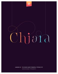 Chiara. Made with the new Lingerie Xo - The Sexiest, Most Powerful Typeface Yet. By Moshik Nadav Typography. Available on: www.moshik.net #lingeriexo #xo #typography #type #newfont #newtypeface #fonts #font #typeface #fashion #fashiontypography #fashionmagazine #logo #logotype #moshik #moshiknadav #ligatures #ligature #typografie #swashes #graphicdesign #branding #packaging #Chiara #chiaraferragni