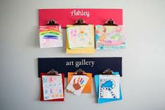 how to display kids art work - Google Search