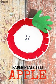 Paper Plate Felt Apple - Kid Craft