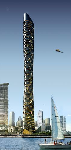 Dubaï étude tower flying concept  Doss architect