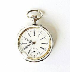 Antique Swiss silver pocket watch