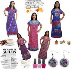 indian women's nightgown: WOMEN'S NIGHTWEAR HOSIERY MAXI NIGHTY