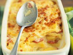 Découvrez la recette Gratin dauphinois aux lardons sur cuisineactuelle.fr.