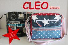 Nähanleitungen Taschen - ebook CLEO Schultertasche für Nähbegeisterte mi... - ein Designerstück von elbmarie bei DaWanda