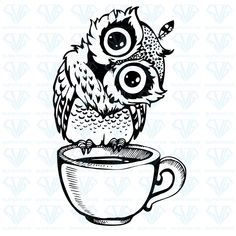 Cute owl cartoon bird character line sketch. Hand drawn vector illustration for t-shirt print design, coloring book, greeting card. Isolated on white Cute Owl Cartoon, Cartoon Birds, Owl Art, Bird Art, Cute Owl Drawing, Cartoon Owl Drawing, Atrapasueños Tattoo, Sketch Tattoo, Owl Silhouette