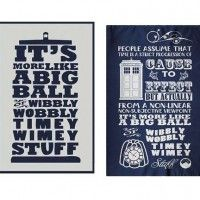 Doctor Who Timey Wimey Tea Towel 2-Pack