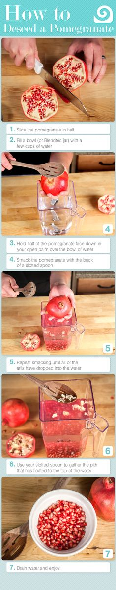 How to Deseed a Pomegranate diy diy ideas easy diy diy food diy fruit