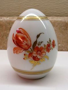 Vintage-KPM-Germany-1972-Limited-Edition-Porcelain-Egg-Floral-Design-Ltd-Edition