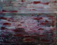 """Artist: Lijda Zuijderuijn; Acrylic on canvas. """"A la plage"""""""