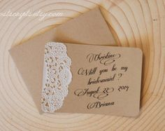 Handmade Rustic Tented Table Place Card Setting by postscripts