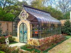 "Victorian Houses on Twitter: ""Greenhouse with stained glass doors… """