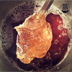 Did you know...early in our creation process BrewBath is a paste. Then we turn it into our version of liquid gold.