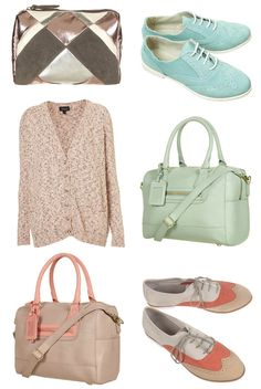 color, aqua, teal, purse, bag, pink, sweater, coral, oxford, style, fashion, shoes