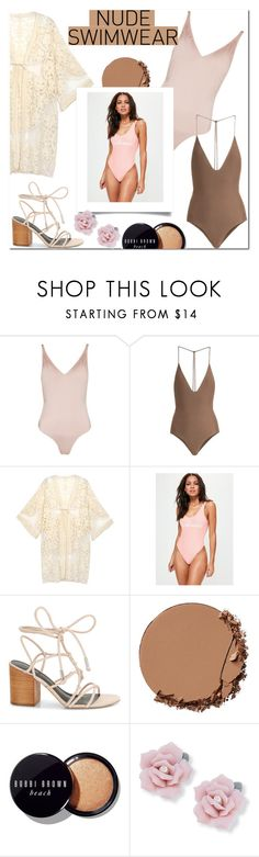 """Swimwear style"" by lynksmichelle ❤ liked on Polyvore featuring Topshop, Jade Swim, Missguided, Rebecca Minkoff, Urban Decay, Bobbi Brown Cosmetics, Palm Beach Jewelry, Summer, women and contestentry"
