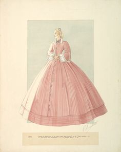 Unused design for India Wilkes in Gone With The Wind