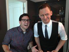 Tom Hiddleston and Josh Horowitz :p at #mtvafterhours: Reunited in #Toronto