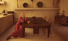 Chanel Pre Fall 2014   Lara Stone Stuns for Inez & Vinoodh in Western Glam Porter Magazine Feature