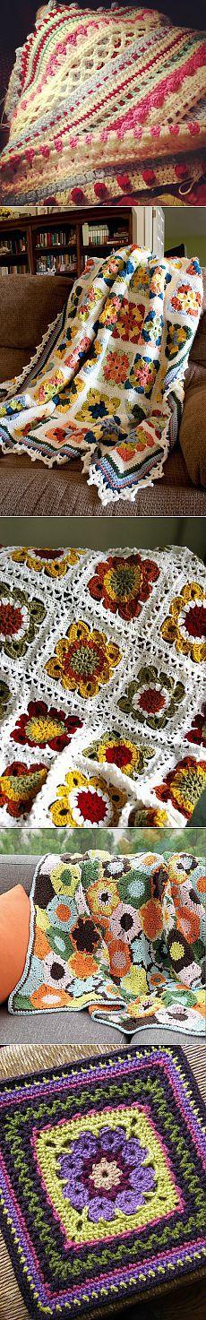 Mejores 68 imágenes de Knitting - Afghans en Pinterest | Afganos ...