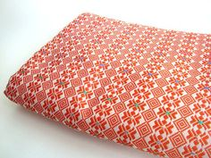 Orange woven Georgia african fabric metalic detail by ChilliPeppa, £25.00  I LOVE THIS FABRIC!!