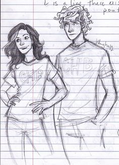 burdge: I'll be your wave carrying you to shore [x] rule 63 Percy and Annabeth- i blame Andy for this. and i have a lot more to post of these genderbent characters, it was way too much fun.