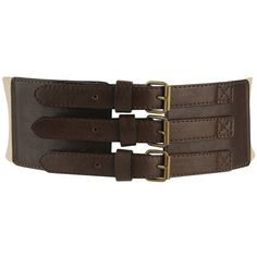 Multi-Buckle Belt ($6.80) ❤ liked on Polyvore featuring accessories, belts, women, thick belt, fat belt, wide belts, buckle belt and forever 21