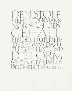 Friedrich Poppl (D) 1923 - 1982. Den Stoff sieht jedermann vor sich. Johann Wolfgang Goethe, 1964, 62 x 48,4 cm, BSK 4,1,85