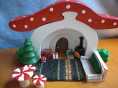 Gnome Sweet Home Christmas Living Room Set by LittleRedWhimsy (item sold, idea only)