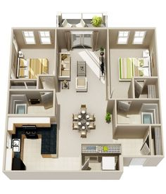 2 #Bedroom Apartment/House #Plans