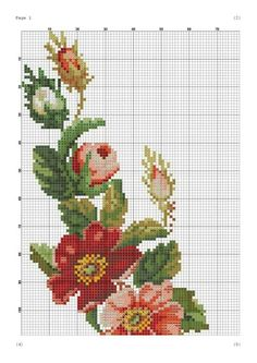 Grand Sewing Embroidery Designs At Home Ideas. Beauteous Finished Sewing Embroidery Designs At Home Ideas. Cross Stitch Borders, Cross Stitch Rose, Cross Stitch Flowers, Cross Stitch Charts, Cross Stitch Designs, Cross Stitching, Cross Stitch Embroidery, Embroidery Patterns, Cross Stitch Patterns