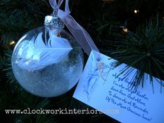 """We first made these """"angel feather"""" bulbs when my kids were preschoolers. They are super sweet and super easy. Plus they make great gifts! Here's all the suppli…"""