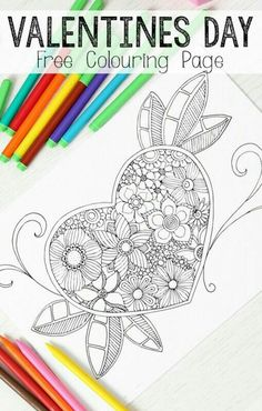 Heart Colouring Page For Grown Ups