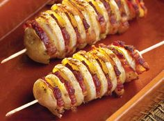 Roasted Potato & Bacon Kabobs