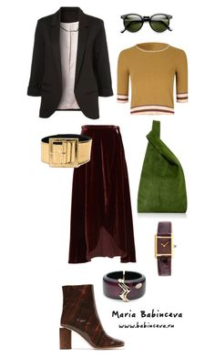 Без названия #418 by mariaalex-stylist on Polyvore featuring polyvore, fashion, style, WithChic, Reformation, Acne Studios, Cartier, Alexis Bittar, Yves Saint Laurent and clothing