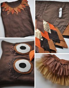 Carnival costume itself make children- faschingskostüm selber machen kinder Owl Halloween Costumes 5 - Owl Costume Kids, Owl Halloween Costumes, Masquerade Costumes, Fete Halloween, Adult Halloween, Halloween Crafts, Costume Garçon, Bird Costume, Up Costumes
