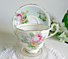 Vintage Paragon Teacup and Saucer Tea Cup Set Roses Floral