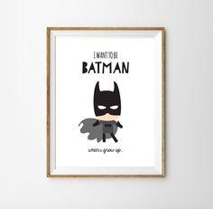 Batman drucken... für einen kleinen Jungen von SunshinePrintsCo