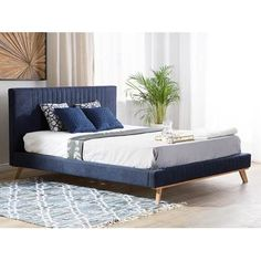 Chenille, Contemporary Bedroom, Modern Bedroom, Superking Bed, Velvet Bed, Upholstered Bed Frame, Bedroom Bed Design, Mattress Springs, Blue Bedding