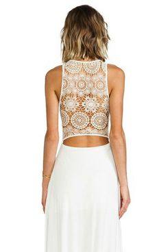 I'm gonna try the lace-back look this summer for sure!