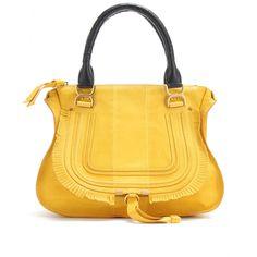 Marcie Medium Ledertasche mit Fransenborte by Chlo Chloe Marcie Bag, Chloe Marcie Medium, Fringe Handbags, Leather Handbags, Leather Bag, Hippy Gifts, Hiking Bag, Hip Bag, Fashion Bags