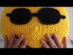 ♥ ♥ emoticonos almohadilla Croche - YouTube