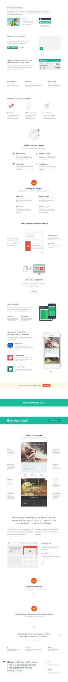 http://designmodo.com/startup/ Components: Content Blocks